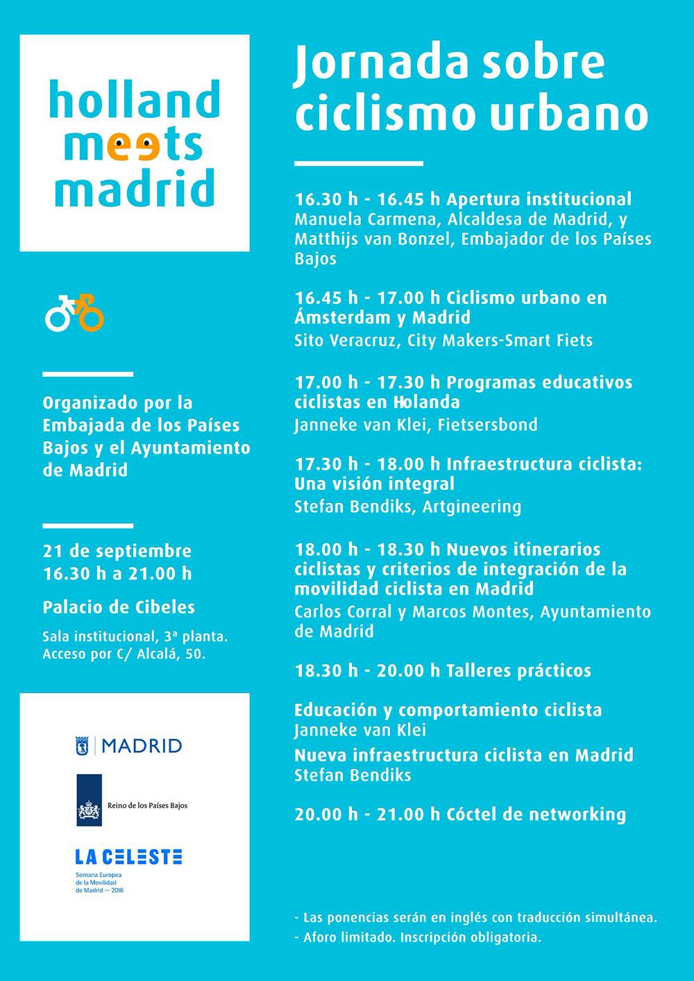 Programa de la Jornada «Holland meets Madrid»