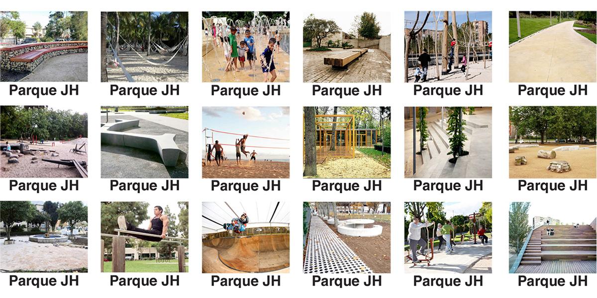 Collage de propuestas - Parque JH Torrelodones